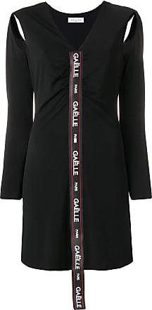 Gaëlle Paris logo long-sleeve mini dress - Di Colore Nero 7daeeac7dd2
