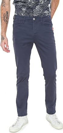 Jack & Jones Calça Sarja Jack & Jones Slim Lisa Azul