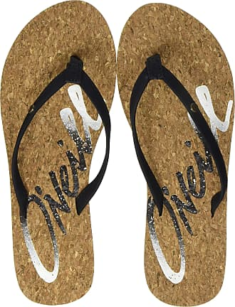 O'Neill Womens Fw Logo Cork Sandals Shoes & Bags, (Black Out 9010), 8.5 UK