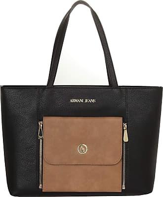 Emporio Armani Armani Womens 095215 922056 Shoulder Bag Black Nero Sabbia  One Size 0ee29d4e39558