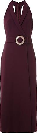 Framed Vestido longo High Tailoring com fivela - Roxo