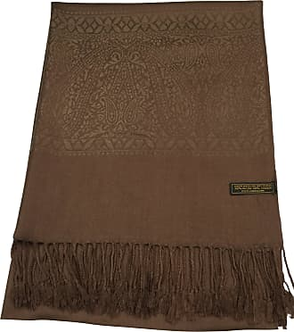 CJ Apparel Brown Paisley Pattern Design Shawl Scarf Wrap Stole Pashmina CJ Apparel NEW(Size: One Size)