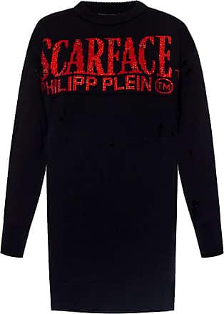 Philipp Plein Logo-embroidered Sweater Womens Black