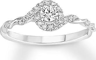 Kay Jewelers Diamond Engagement Ring 1/3 ct tw Round-cut 10K White Gold