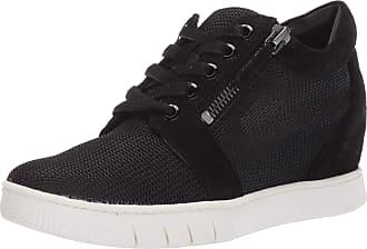 Naturalizer Womens Kai2 Sneakers, Black Suede Mesh, 10.5 US Medium