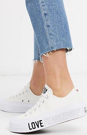 Converse Chuck Taylor - Lift Platform - Weiße Sneaker mit Herzdesign-Schwarz