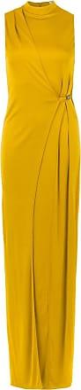 Tufi Duek Vestido longo com fenda - Amarelo