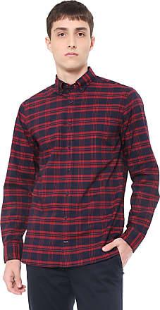 67b6a2985 Tommy Hilfiger Camisa Tommy Hilfiger Regular Xadrez Vermelha