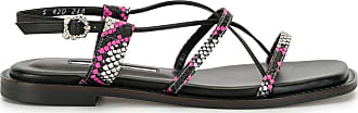 Yuul Yie Harley Cross python-print sandals - PINK