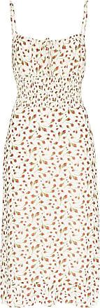 Reformation Vestido midi Genie com estampa floral - Branco