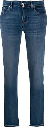 7 For All Mankind slim faded jeans - Azul