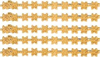 Jennifer Behr Conjunto de alfinete floral - Dourado