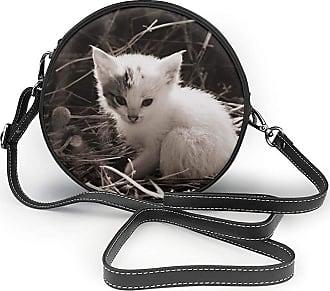 Turfed PU Round Shoulder Bag Style Cat Cat Baby Baby Cat Sweet Cute Baby Kitten Cross Body Bag