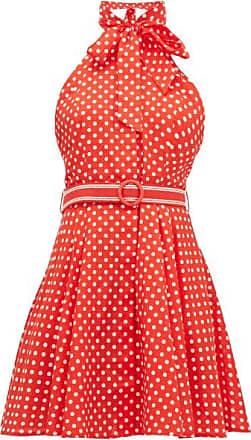 Zimmermann Zinnia Polka-dot Linen-blend Mini Dress - Womens - Red Print