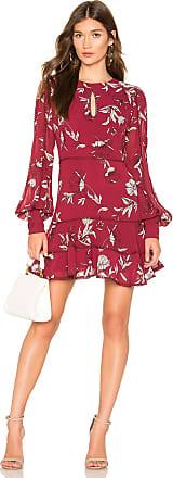 Bardot Tammy Trim Dress in Wine