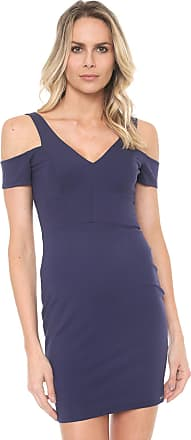 5de9f817b Dimy Vestido dimy Curto Ombro Vazado Azul-marinho
