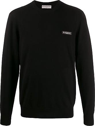 Givenchy Suéter decote careca com patch de logo - Preto