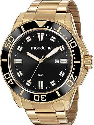Mondaine Relógio Mondaine Masculino Dourado 53790gpmvds1 Analógico 10 Atm Cristal Mineral Tamanho Grande