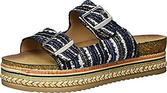 Qupid Womens Espadrille Wedge Sandal, Blue Mutli, 7 M US