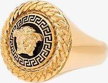Versace Mens Gold Medusa Ring