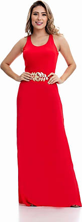 Clara Arruda Vestido Clara Arruda Longo Fenda Lateral 50297 - G - Vermelho