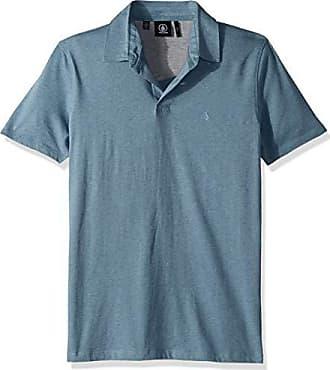 Volcom Mens Wowzer Polo Shirt, Blue Fog, Small