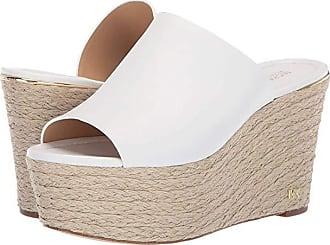 Michael Kors Cunningham Wedge (Optic White Vachetta) Womens Shoes