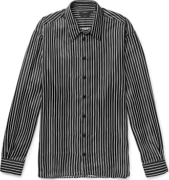 Joseph Oversized Pinstriped Satin Shirt - Black