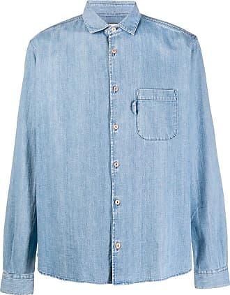 Ymc You Must Create Camisa jeans - Azul
