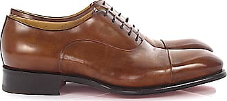 Santoni Oxford 12621 leather brown goodyear welted