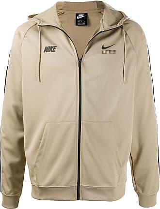 Nike Kapuzenjacke mit Seitenstreifen - Nude