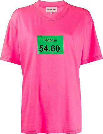 Natasha Zinko T-shirt oversize Georgin - Di colore rosa