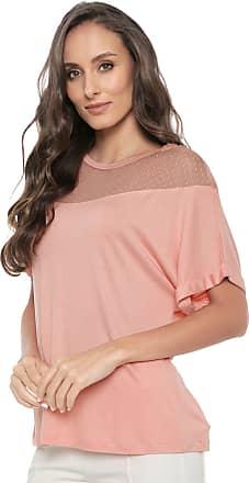 Ana Hickmann Camiseta Ana Hickmann Tule Rosa