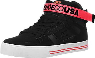 DC Womens Pure HIGH-TOP V Skate Shoe, Black/Hot Pink, 3.5 UK