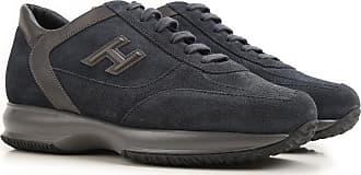 a9a443c660 Hogan Sneaker Uomo On Sale in Outlet, Interactive, Blue Navy, Pelle  Scamosciata,