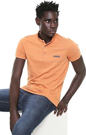 Iodice Camisa Polo Iódice Reta Logo Laranja