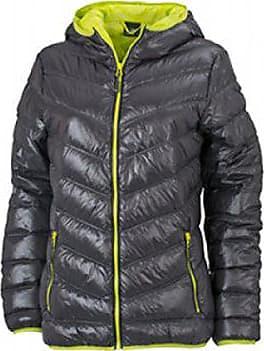 4d2bfa7f6feafc James & Nicholson Damen Jacke Jacke Ladies Jacket grau (carbon/acid-yellow)