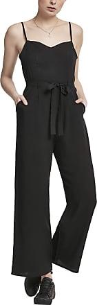 Urban Classics Womens Ladies Spaghetti Jumpsuit, Black (Black 00007), X-Large