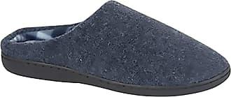 Zedzzz TONY Textile Velour Mule Indoor Mule Slippers - Navy Blue Textile, Mens UK 11 / EU 45