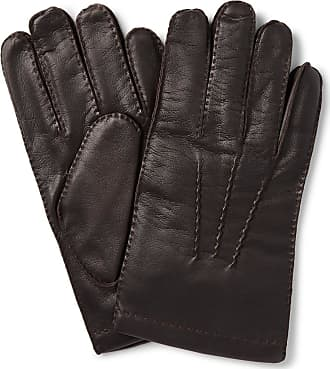 5009dbfc9 Dents Shaftesbury Touchscreen Cashmere-lined Leather Gloves - Dark brown