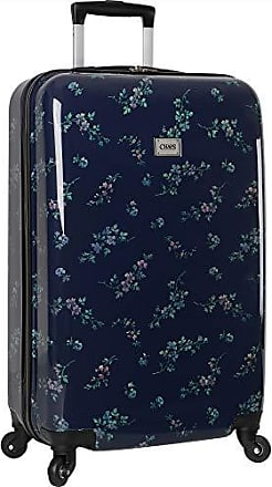 Chaps Hardside Carry On Spinner Luggage, Navy Bouquet