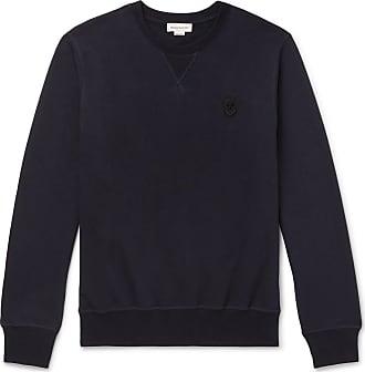 Alexander McQueen Slim-fit Skull-embellished Loopback Cotton-jersey Sweatshirt - Navy
