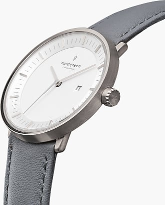 Nordgreen Philosopher - Grey Leather - 36mm / Rose Gold