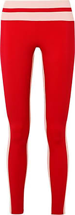 e7f7a36a14b0 Vaara Flo Tuxedo Striped Stretch Leggings - Red
