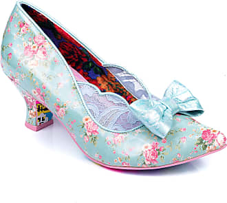 Irregular Choice Marma Ladies Mid Heeled Court Shoes (Blue (Blue A), Numeric_6_Point_5)