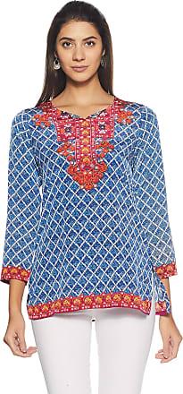 Biba Womens Straight Kurta (MNMCREPE KU14571_Blue_32)