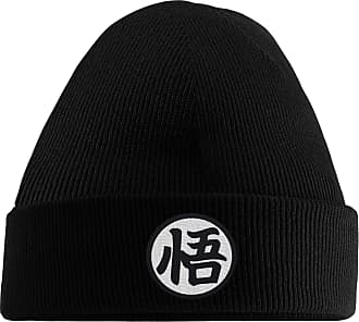 HippoWarehouse Gokus Kanji Embroidered Beanie Hat Black
