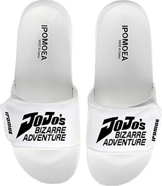 Cosstars JoJos Bizarre Adventure Unisex Anime Slippers Open Toe Sandals Adjustable Hook and Loop 2 / White 290 MM