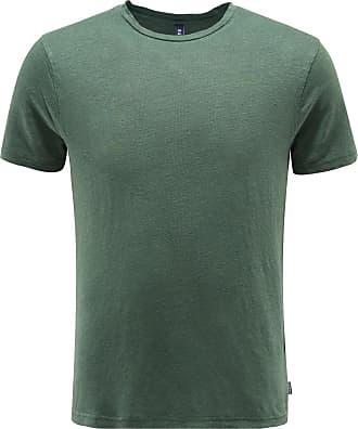 04651/ Leinen R-Neck T-Shirt dunkelgrün bei BRAUN Hamburg