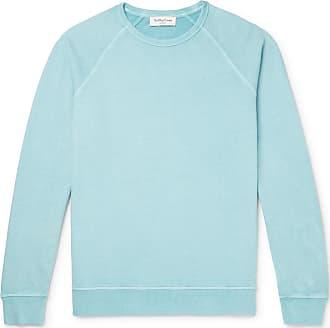 Ymc You Must Create Schrank Loopback Cotton-jersey Sweatshirt - Sky blue